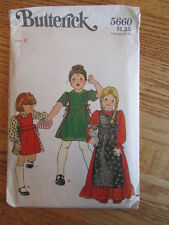 LOVELY BUTTERICK 5660 VINTAGE GIRL'S TODDLERS SIZE 2 VINTAGE PATTERN GRANNY GOWN