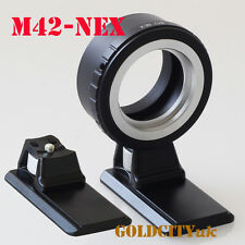M42 Lens Adapter To Sony NEX E-Mount Nex3 Nex5N Nex5T A7 A6000 With Tripod Stand