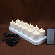 Luminara Yellow Flame Flickering Moving Wick Rechargeable TeaLight Led Candle