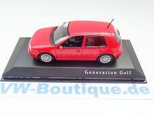 VW Golf 4 de Minichamps en 1:43 rouge neuf