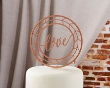 Geometric Copper Love Wedding Cake Topper Q36387