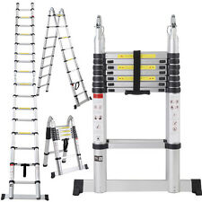 EN131 16.5FT Aluminum Telescoping Telescopic Extension Ladder Tall Multi Pu