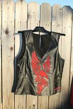 Ladies Harley Davidson leather vest with eagle - size S
