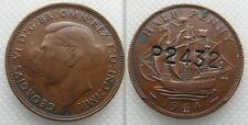 Collectable King George VI Half Penny... counter stamped , P2432. SEE PHOTO