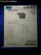 Sony Service Manual XVM R75 Overhead Monitor  (#6130)