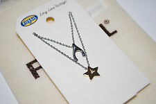 NWT Fossil Brand Wishbone Best Friends Star 2 in 1 Necklace with Dust Bag