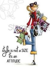 New Stamping Bella Cling Rubber Stamp Uptown girl CHARLOTTE LOVES TO SHOP