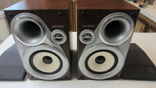 2) Aiwa Book Case Speakers, Model SX-M200, High 16 Ohm, Low 6 Ohm