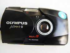 USED OLYMPUS MJU-2 µ-II WITH NEW BATTERIE. ALL WEATHER COMPACT PHOTO CAMERA