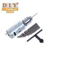 DIY Crafts®Electric Motor Small PCB Hand 10Drill Press Twist Bits Keyless Chuckp