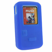Blue Silicone Skin Case for Sandisk Sansa Clip Zip 4/8GB MP3 Player Cover Holder