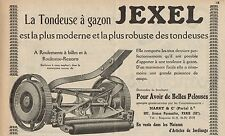 Y7213 Tondeuse à gazon JEXEL - Pubblicità d'epoca - 1927 Old advertising