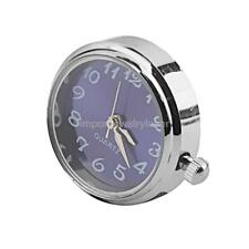 Noosa Style Silver Blue Watch Clock Dial Snap Charms Bead Button DIY