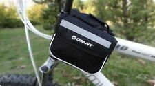 New Cycling Bike Bicycle Rear Saddle Black Front Bag Quick Release 600D
