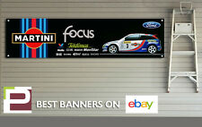 Ford focus rs Mk1 rallye voiture banner xl pour atelier, garage, martini colin mcrae