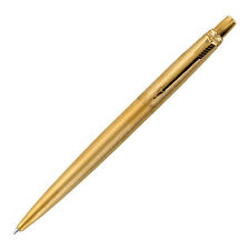 Parker Jotter Gold GT Retractable Ballpoint Pen, Fine Point, Blue Ink