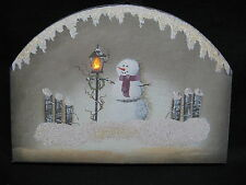 Lantern in Snow Lighted Canvas Wall Decor Sign