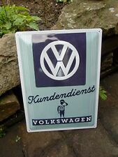 VOLKSWAGEN Kundendienst SERVICE - VW MAN - WALL SIGN Beetle Bus MADE IN GERMANY