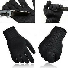 1 PAIR BLACK PROTECT STAINLESS STEEL WIRE SAFETY MESH BUTCHER GLOVES FIRST-RATE