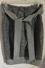 MAX MARA Gorgeous Gray Wool Alpaca Blend Pencil Pocket Tie Waist Skirt SZ US 4 6