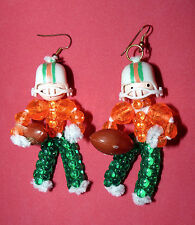University of Miami Hurricanes Canes UM Player Football Ladies Earrings