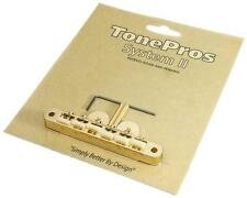 "TonePros AVR2 Guitar Bridge, Locking ABR-1 w/ Nylon  ""G FORMULA"" Saddles, GOLD"