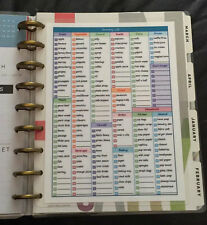 Grocery List/Shopping & Menu Planner Dashboard Insert for Happy Planner