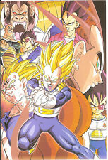 DRAGON BALL POSTER  VEGETA  NAPPA  OZARU  21x14 CM NEW