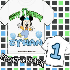 Custom baby Mickey Mouse or Minnie Mouse -Personalized t-shirt 1st birthday