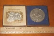 WATERTOWN CONNECTICUT 1776-1976 BICENTENNIAL MEDAL IN ORIGINAL CASE w HISTORY