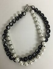 Name Brand Fashion Jewelry Pearl Necklace 2 in 1 NEW