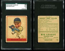 1938 Goudey Heads-Up BOB FELLER Rookie RC #264 Indians SGC 1.5