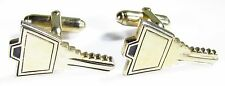 Gold Tone Cufflinks with a Key by Anson