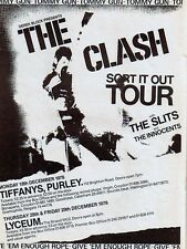 "The Clash Tiffanys 16"" x 12"" Photo Repro Concert Poster"