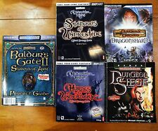 AD&D Baldur's Gate Neverwinter Nights PC Roleplaying Game Strategy Guide Lot 5