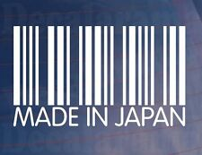 MADE IN JAPAN Barcode Japanese JDM Novelty Vinyl Car/Van/Window/Bumper Sticker