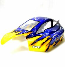 81364 Off Road Nitro RC 1/8 Escala Buggy Carrocería Amarillo Azul HSP Corte Shell V2