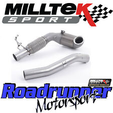 "Milltek SSXVW388 Golf GTi MK7 3"" Exhaust Cast Downpipe & RACE Sport Cat 200 Cell"