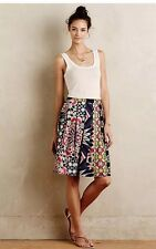 Anthropologie Fez Pleated Skirt By Weston Bold Beautiful Colors Sz XS $148