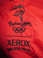 USA OLYMPICS 2000 SYDNEY Sponsor XEROX Swingster Embroidered (XL) Jacket w/ Tags