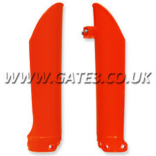 KTM 125SX SX 125 2000-2007 ORANGE FRONT LOWER FORK GUARDS MOTOCROSS MX PLASTICS