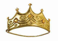Child Royal Crown King Queen Gold Medieval Wisemen Costume Accessory Prince