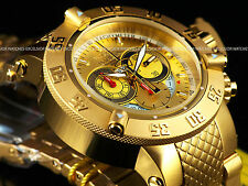 NWT Invicta Subaqua Noma III Swiss Made Chronograph 18K Gold SS Gold Dial Watch