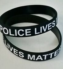 "POLICE LIVES MATTER 8"" SILICONE BRACELET - SHOW YOUR SUPPORT - FAST SHIPPING"