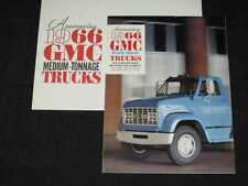 1966 GMC Medium Duty Trucks Folder Sales Brochure w/Env