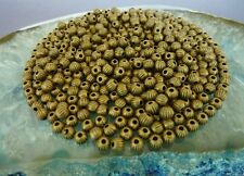 200 pce Etched Antique Bronze Round Spacer Beads 4mm