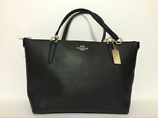 NWT Coach Ava Crossgrain Leather Tote F57526 Black MSRP $350