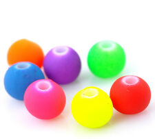 250 Acrylic mixed Neon Bubblegum  Beads 6mm Random Mix  Free postage