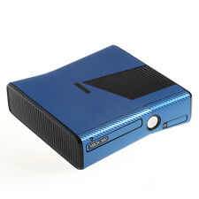 Textured Blue Carbon Fibre Effect XBOX 360 Slim decal skin sticker cover wrap