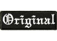 ORIGINAL EMBROIDERED IRON ON BIKER VEST PATCH